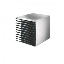 Leitz Schubladenbox A4 10 Schübe zu Formularset Farbe schwarz