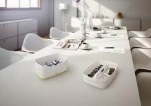 MyBox Organiser mittel mit Griff weiß 307x101x375mm
