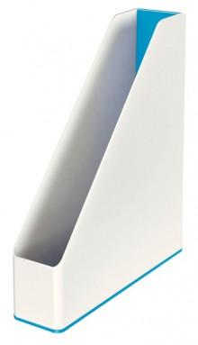 Stehsammler WOW Duo Colour, blau metallic, Rückenbreite 73 mm