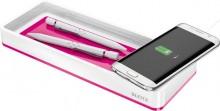 Leitz Stiftschale mit Qi-Ladegerät Duo Colour, pink metallic