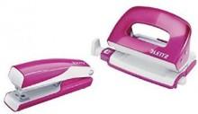 Leitz WOW Locher/Hefter Set Mini pinkmetallic # 55612023