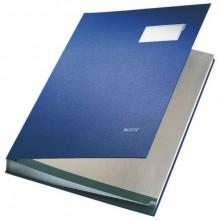 Unterschriftsmappe 20Fächer PP blau