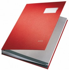 Leitz Unterschriftenmappe in rot aus saugstarkem Löschkarton