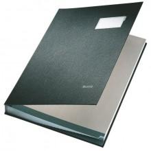 Leitz Unterschriftenmappe in schwarz aus saugstarkem Löschkarton