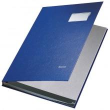 Leitz Unterschriftenmappe in blau mit 10 Fächern