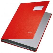 Leitz Unterschriftenmappe in rot mit 10 Fächern