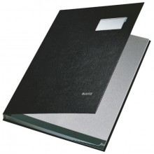 Leitz Unterschriftenmappe in schwarz mit 10 Fächern