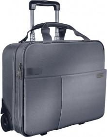 Handgepack Trolley Smart Traveller silber grau, elegante Tragegriffe