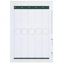 Papierrückenschild lang/schmal grau A4 25 Blatt = 125 Stück