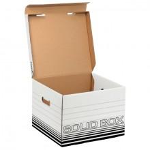 Archiv/Transportbox Solid weiß Größe M, 360x270x325mm, bis 18 kg