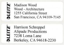 Gestanzte Adress-Etiketten für Icon. 88 x 28 mm, weiß, permanent haftend.