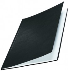Buchbindemappe Hardcover A4 10,5mm Leinenüberzug matt schwarz