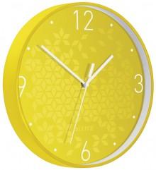Wanduhr WOW, Ø 30 cm, gelb, Quartzlaufwerk, Glasfront, gut