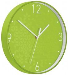 Wanduhr WOW, Ø 30 cm, grün, Quartzlaufwerk, Glasfront, gut