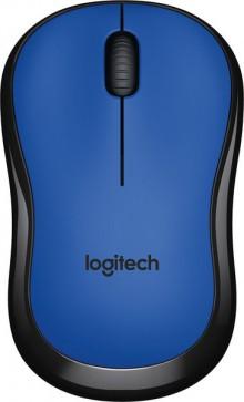 Maus M220 silent, blau, kabellos, über 90% reduzierte Klickgeräusche,
