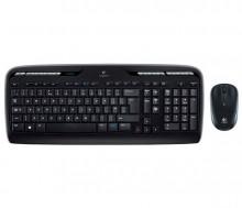 Tastatur-Maus-Set MK330 schwarz kabellos, USB-Empfänger, leise Tasten