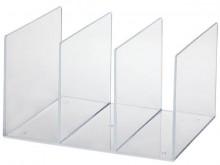 Katalogsammler Acryl mit drei Fächern