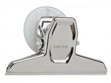 Klemmer MAULpro 95m 2er silber mit Saugnapf Metall Klemmweite 20mm