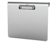 Schreibplatte Medic A4quer silber Aluminium Klemmweite 8mm