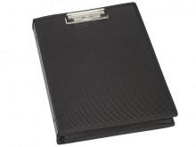 Schreibmappe A4hoch schwarz MAULcollegeKlemmweite 8mm