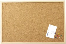 Pinntafel 80x60cm Kork Holzrahmen mit Nadeln
