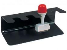 Stempelträger gerade 4er schwarz Metall lackiert 15,5x6x6,5cm