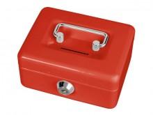 Geldkassette mit Münzeinwurf rot 12,5x10,5x6,1cm