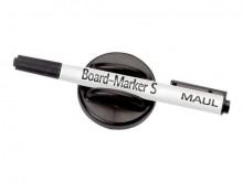 Tafelwischer mit Marker S schwarz Finepoint magnethaftend