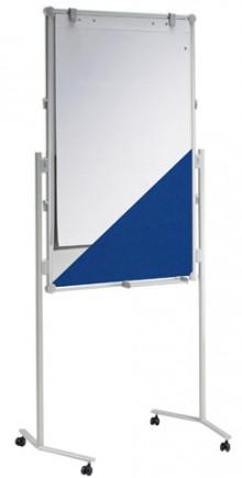 Moderationstafel MAULpro gr 120/75cm Textil bl/WB