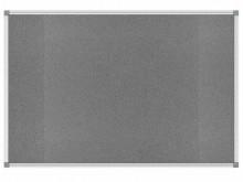 Pinnboard Standard 90/120 grau Textil Alurahmen, Ecken grau
