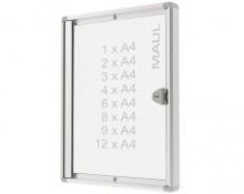 Schaukasten MAULextraslim 8xA4 si 65,5x93,1x2,7cm