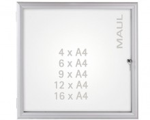 Schaukasten MAULadvanced 16xA4 si 128,6x93,8x3,5cm