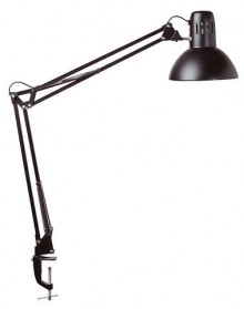 Tischleuchte MAULstudy 60Watt sw ohne Leuchtmittel Klemmfuß