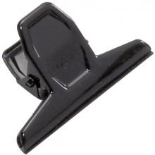 Briefklemmer 75mm breit 20mm Klemmweite schwarz