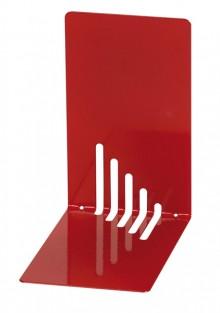 Buchstütze Metall rot schmal 14x14x8,5cm, 1 Paar
