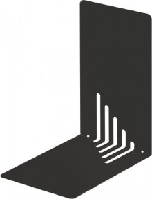 Buchstütze Metall schwarz schmal 14x14x8,5cm, 1 Paar