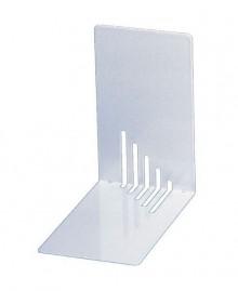 Maul Buchstütze Metall weiß schmal 14x14x8,5cm, 1 Paar