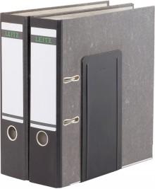 Buchstütze schwarz Metall 14x12x24cm 1 Paar