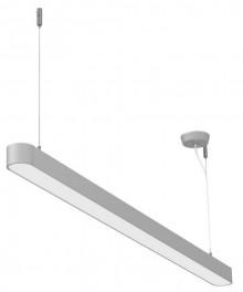 LED-Pendelleuchte MAULstraight,127,5cm silber, Stabiles Metallgehäuse aus