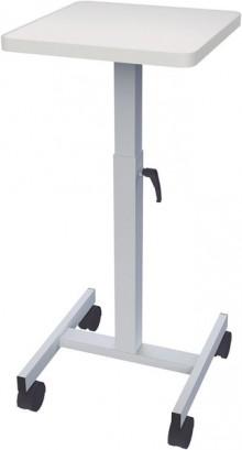 Beamertisch, OHP-Tisch grau, f.20kg Höhe: 64-100cm,Vierkant-Teleskopsäule