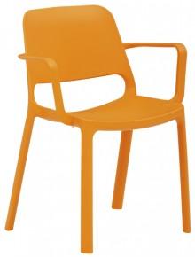 Stapelstuhl myNUKE mit Armlehnen orange, 100 % PP, outdoorgeeignet