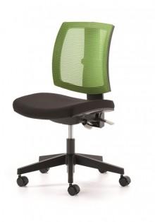 Drehstuhl LadyLike, Sitz schwarz Rücken Netz grün, höhenverstellbar