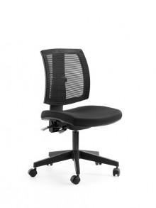 Drehstuhl LadyLike, Sitz schwarz Rücken Netz schwarz, höhenverstellbar