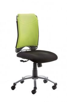 Drehstuhl SPIRIT Mikrofaserrücken grün Fußkreuz silber, Rollen für Teppich