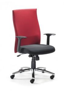 Drehstuhl MYERGOSTAR Rücken rot Sitz schwarz, Lendenwirbelstütze
