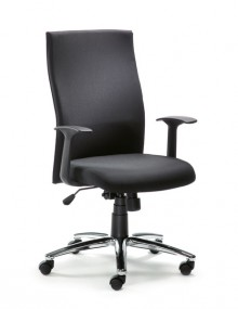 Drehstuhl MYERGOSTAR Rücken schwarz Sitz schwarz, Lendenwirbelstütze
