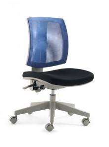 Kinder- und Jugenddrehstuhl MY FleXo Sitz schwarz, Netzrücken blau