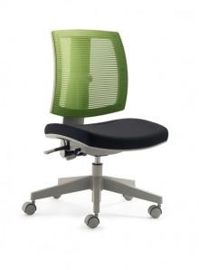 Kinder- und Jugenddrehstuhl MY FleXo Sitz schwarz, Netzrücken grün