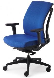 Drehsessel ARTI CHAIR blau 4-fach verstellbare Armlehnen schwarz