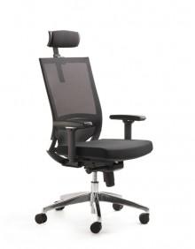 Drehsessel Myoptimax Netzrücken/Sitz schwarz,Nackenstütze,höhenverstellbare